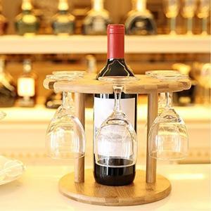 China Wooden wine glass holder bamboo hanging wine glass rack wholesale