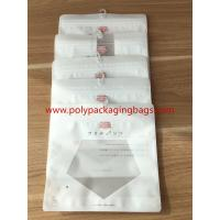 China Reclosable Zip lock Poly Bags With Hangers Hook / Plastic Custom Printed Bags on sale