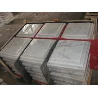 China China White Marble Wall Coping, Guangxi White Marble Pillar Cap, China Carrara Marble Pier Cap,Column Top wholesale