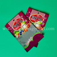 China zipper snack food bags, one side Aluminium, one side clear. wholesale