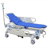China Galvanized Steel Patient Transfer Trolley With Manual Crank 630 - 930mm Height Adjustment wholesale