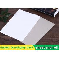 China 250g white duplex board Grey Back Duplex Board Paper For Printing Box wholesale