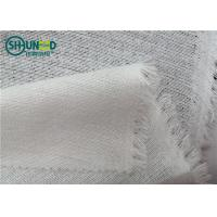 China OEKO Polyester/Visocose 120gsm Powder Dot Brushed Fusible Warp Knit Interlining Tricot Fuing for Garment Suit/PU Leather wholesale