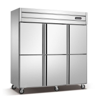 China 880W 6 Door Commercial Stainless Steel Refrigerator Freezer on sale