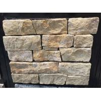 China Giallo Atlantide Marble Stone Veneer with Steel Wire Back,Marble Ledger Stone Cladding wholesale