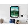 China Four Season Tree Design Printing 3D Lenticular Flip Effect Home Decoration wholesale