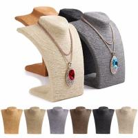 China Russian Style Necklace Mannequin Stand 6 Colors Large Rope Wrapped Necklace Display wholesale