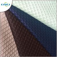 China Patent Quilted Faux Leather Fabric Multi Color Abrasion Resistant Durable wholesale
