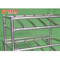 China Stainless Steel Pipe Racking System , Rolling Utility Cart For Turnover Shelf System on sale