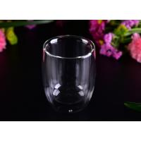 China Superior 220ml Hot Double Wall Drinking Glasses LFGB CA65 FDA Certification wholesale