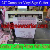 China Printed Vinyl Sticker Cutter 24'' Computer Cutting Plotter With Stand Vinyl Cutter W AAS wholesale