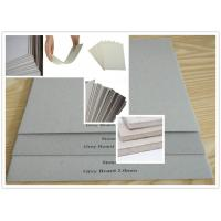 Quality Recycled Pulp Uncoated Laminated Grey Chipboard 700gsm - 1800gsm 1.5mm Thick Paper for sale