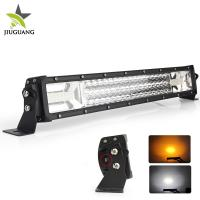 China 12V 3 Row warning  4X4 Off road led light bar Flashing 24 Volt 22 Inch for  Car network wholesale