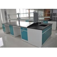 China Cold Rolled Steel Lab Casework Workbench Furniture With Reagent Shelf wholesale