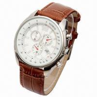 China Automatic Watch with Japan Automatic Movement, Genuine Leather and Stainless Steel Case wholesale