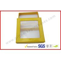 China Customized Chocolate Packaging Boxes / PVC Window Square Shape Box wholesale