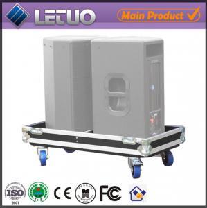 China Aluminum flight case road case transport crate case pc speaker flight case on sale