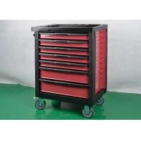 China 7 Drawers Pink Key Lock Rolling Tool Cabinet To Store Tools Color Customizable wholesale