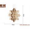 China Laser plywood 3D snowflake ornament, Xmas tree decoration, wood shape craft supply, unpainted DIY Christmas, winter wood wholesale
