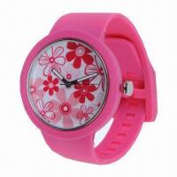 China New style silicone watch with Japanese/Chinese quartz movement wholesale
