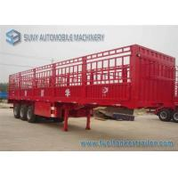 China Length 12 m Fenced Flatbed Semi Trailer 3 Axles Load Capacity 50 T 55 T wholesale