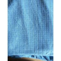 China Microfiber Factory Blue 1.5m Width 320gsm Density Weft Big Grid Car Cleaning Cloth wholesale