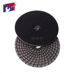 China 4 Inch / 5 Inch Wet Diamond Polishing Pads , Spiral Velcro Polishing Pads wholesale