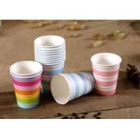 China Custom Printed Paper Coffee Cups With Great Preventing Leakage Function wholesale
