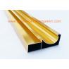 China Electrophoretic Coated Gold Aluminium Cabinet Door Profiles 0.4mm-20mm Thickness wholesale