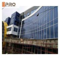 China Blue Color Aluminium Glass Curtain Wall For Building Exterior Wall Decoration on sale
