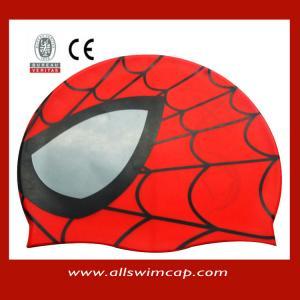 China Children lovely Spiderman Swimming Caps wholesale