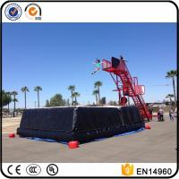 China Freefall Inflatable Stunt Jump Platform, Zero Shock Inflatable Cliff Jump with air bag wholesale