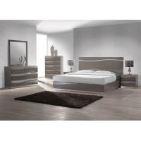 China King Size Bedroom Furniture Sets , Modern High Gloss Bedside Cabinets E1 MDF wholesale