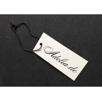 Quality White Cardboard Custom Price Tags Environmental For Apparel Decorating Retailing for sale