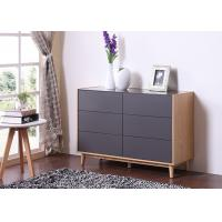 China Lacquer Matt Modern Sideboard Cabinet With Six Drawer / Solid Wood Legs wholesale