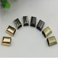 China Handbag gold zinc alloy metal cord end clips and stopper with screws wholesale