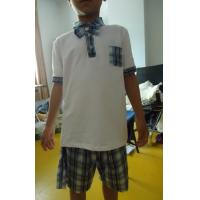 China Short Sleeve Childrens School Uniforms , Boy 2 Piece Boys School Uniforms wholesale
