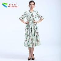 China Largos Casual Long Cotton Summer Dresses None Decoration For Beach wholesale