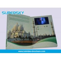 China 4.3 inch / 5 Inch TFT LCD Video Brochure , Folded LCD Greeting Card wholesale