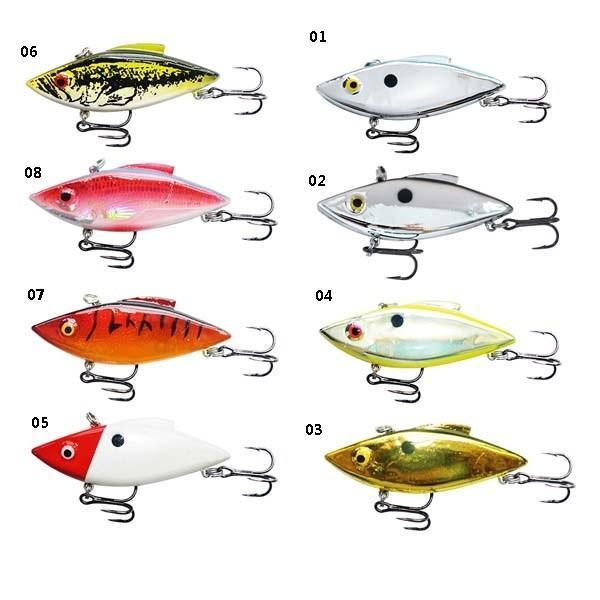 Quality VIB Hard Fishing Lure 75mm/15.9g treble Hook bass lure Hard Bait for sale