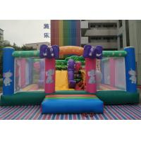 China Commercial 0.55MM PVC Elephant Theme Kids Inflatable Jumper With Digital Printing wholesale