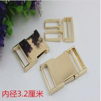 China High quality zinc alloy 32 mm light gold fast release buckle for bag parts wholesale