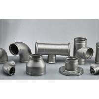 China Stainless Steel Grooved Pipe Fittings With Sandblasting / Polishing Surface Treatment wholesale