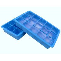 China Fancy 15 Cavity Silicone Chocolate Molds , Easy Make Large Square Ice Cube Tray wholesale