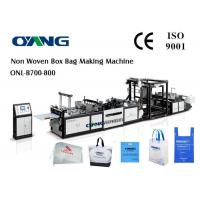 China PLC Control Ultrasonic Non Woven Bag Making Machine With Speed 40-100pcs / Min wholesale
