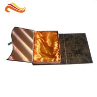 China Crocodile Embossed Leather Square Luxury Gift Boxes With Golden Satin Covering wholesale