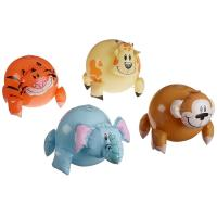 China OEM&ODM Inflatable Jungle Animal Shaped Beach Balls 12 Pack / Blow Up Pool Toys wholesale