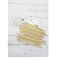 China Metal Gold Disposable Drinking Paper Straws For Smoothies Customized Length on sale