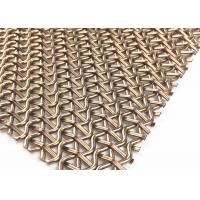 China PVD Rose Gold Stainless Steel Decorative Wire Mesh 1500mm W 3700MM L Panel wholesale