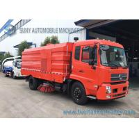 China 10T Dongfeng Kingrun Street Sweeper Truck With Dry Dust / Wet Dust Suction wholesale